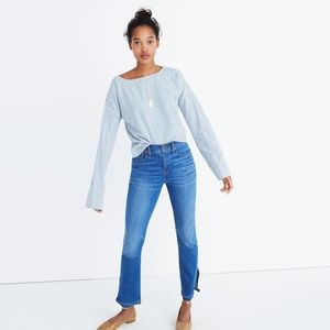 Madewell Tops - Madewell Convertible Cold Shoulder Top Striped